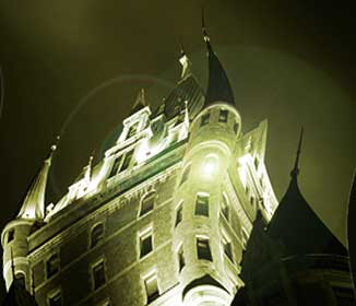ghostly castle or hotel