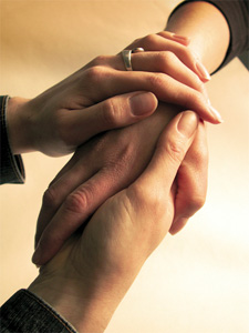 sympathetic and comforting hands