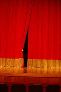 theatre curtain - is that site really haunted?