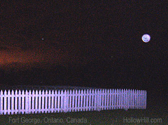 ghost orb at ft. george, ontario, canada