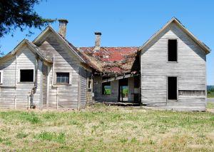 abandoned creepy house