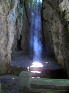 Beam of light in a cave