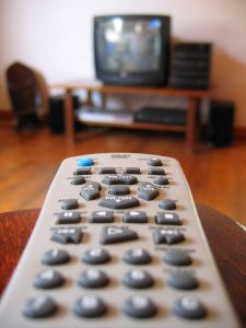 Old TV and remote