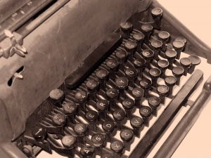 Old typewriter - can be haunted